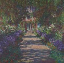 Pathway in Monet's Garden at Giverny, 1902. Creator: Monet, Claude (1840-1926).