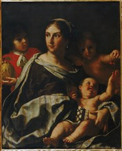 Portrait of Anna Maria Ranuzzi as Allegory of Charity, 1665. Creator: Sirani, Elisabetta (1638-1665).