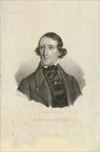 Portrait of August Bournonville (1805-1879), 1842. Creator: Baerentzen, Emilius Ditlev (1799-1868).