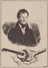 Portrait of the composer and guitarist Mikhail Timofeyevich Vysotsky (1791-1837), 1834. Creator: Ignatov (active 1830s).