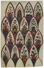Projet de motifs d'indiennes, 1793. Creator: Lemeunnié, Louis-Philippe (1778-?).