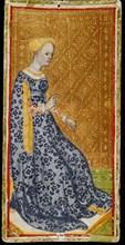 Queen of Wands. Tarot card, 1441-1444. Creator: Bembo, Bonifacio (c. 1420-c. 1480).