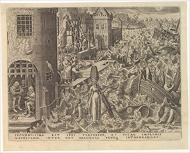 Spes (Hope) from The Seven Virtues, 1559. Creator: Galle, Philipp (Philips) (1537-1612).