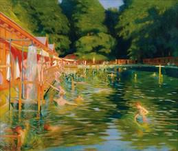 Swimming pool, 1905. Creator: Graf, Ludwig Ferdinand (1868-1932).