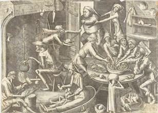 The Poor Kitchen (After Pieter Brueghel I), ca 1563. Creator: Liefrinck, Hans, the Elder (1518-1573).