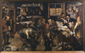 The Village Lawyer, 1621. Creator: Brueghel, Pieter, the Younger (1564-1638).