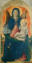 The Virgin and Child Enthroned (From the Praglia Polyptych), c. 1448. Creator: Vivarini, Antonio (ca 1440-1480).