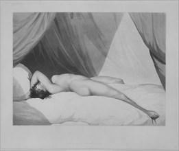 Nude Reclining on Curtained Bed [Emma Hamilton (?)], November 1, 1797. Creator: Attributed to Adam Buck (Irish, Cork 1759-1833).