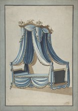 Design for a Canopy Bed, ca. 1760-80. Creator: Anon.