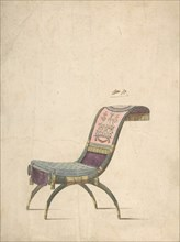 Design for an Empire Chair, late 18th or early 19th century. Creator: Anon.