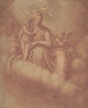 Madonna and Child Among the Clouds, 16th century. Creator: Anon.