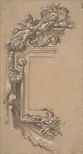 Ornamental Design with Putto and Skulls, 17th century. Creator: Anon.