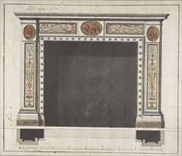 Drawing for a Mantelpiece, 1780-90. Creator: Anon.