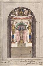 Design for a Tribune., ca. 1866. Creator: Anon.