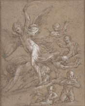 Angels and Putti, 17th century. Creator: Anon.