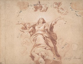 Assumption of the Virgin (after Carlo Maratta?), 17th century. Creator: Anon.