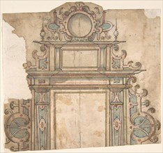 Fragment of design for architectural frame, 16th century. Creator: Anon.