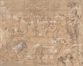 Garden of Eden; Creation of the Animals, 16th century. Creator: Anon.