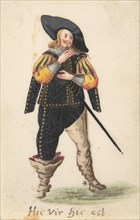 A Standing Cavalier, late 16th-early 17th century. Creator: Anon.