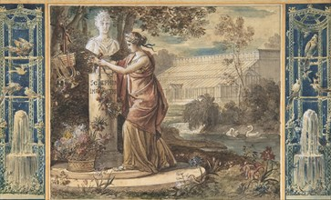 An Allegory of Empress Josephine as Patroness of the Gardens at Malmaison, ca. 1805-6. Creator: Francois Gérard.
