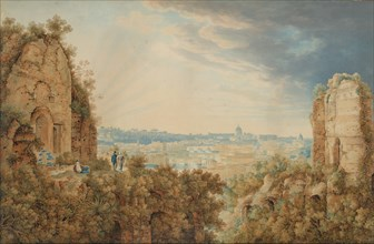 A View of Rome from the Palatine, 1813-17 (?). Creator: Carl Ludwig Frommel.