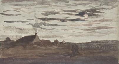 Moonlight, ca. 1860. Creator: Charles Francois Daubigny.
