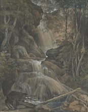 A Waterfall in a Forest at Langhennersdorf, 18th-early 19th century. Creator: Christoph Nathe.