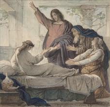 The Raising of the Daughter of Jairus, 1873. Creator: Eduard Julius Friedrich Bendemann.