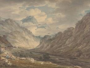 The Honister Pass from Gatesgarth Farm, Gatesgarthdale, Lake District , 1789-1804. Creator: Edward Dayes.