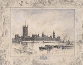 Westminster Palace, 1884. Creator: Felix Hilaire Buhot.