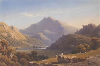 Snowdon from Llyn Nantlle, North Wales, 1832. Creator: George Fennel Robson.