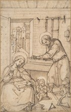 The Childhood of Christ, in the carpenter's shop, 1534-93. Creator: Attributed to Hans Bol.