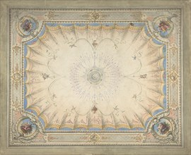 Ceiling Design for the Boudoir, Ardgowan, ca. 1868. Creator: Attributed to J. S. Pearse.