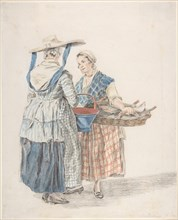 Two Market Women, 1789. Creator: Jacobus Perkois.