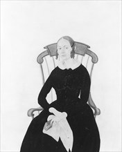 Lady Seated in a Boston Rocker, . Creator: Jane Anthony Davis.