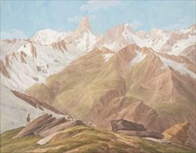 "View of the Massif of Mont Blanc near the ""Petit Jorasse, Grand Jorasse, le..., late 18th-19th centu Creator: Jean-Antoine Linck."