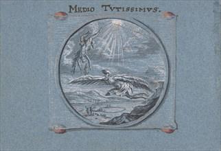 The Fall of Icarus, 1692. Creator: Johann Caspar Hessius.