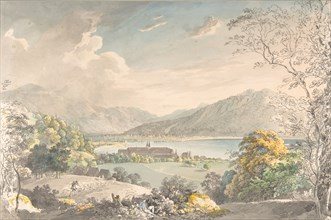 View of the Monastery in Tegernsee seen from the north-east, late 18th-mid 19th century. Creator: Johann Georg von Dillis.