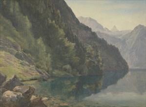 Wooded Shore at the King Lake (Königsee), first half 19th century. Creator: Johann Heinrich Schilbach.