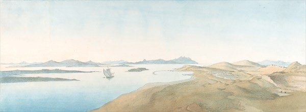 Panorama View on the Islands of Delos, early 19th-late 19th century. Creator: Johann Michael Wittmer.