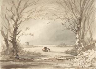A Winter Landscape, 1854. Creator: Johannes Franciscus Hoppenbrouwers.