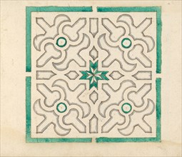 Album containing 75 Drawings for Garden Trellises & Parterres, ca. 1610-40. Creator: Jorg Rurfinger.