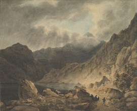 Storm Over A Lake, 1800-1811. Creator: Attributed to Joseph Barber.
