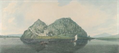 Dumbarton Rock from the South, 1788. Creator: Joseph Farington.