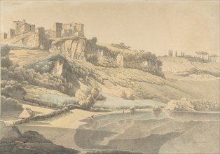 Genzano and Lake Nemi, early 19th century. Creator: Josephus Augustus Knip.