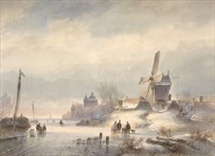 Winter Landscape with Frozen River, 19th century. Creators: Lodewijk Johannes Kleijn, Pieter Rudolph Kleyn.