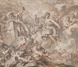 Juno Ordering Aeolus to Unleash the Winds, 1775. Creator: Louis Jean Jacques Durameau.
