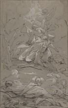 Christ in the Garden of Gethsemane, 1712-62. Creator: Paul Troger.