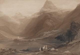 Llanberis Lake, North Wales, 1820-30. Creator: Samuel Jackson.