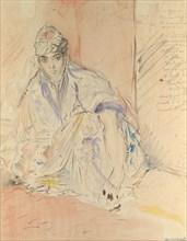 Jewish Woman of Algiers Seated on the Ground, ca. 1846. Creator: Theodore Chasseriau.
